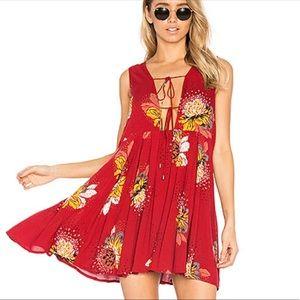 Free People red tunic mini dress